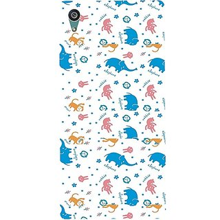 Casotec Elephant Monkey Rabbit Pattern Print Design Hard Back Case Cover for Sony Xperia Z5 Dual