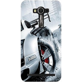 Casotec Drift Sport Print Design Hard Back Case Cover for Asus Zenfone 2 laser ZE550 KL