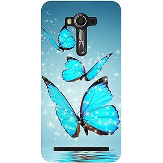 Casotec Flying Butterflies Design Hard Back Case Cover for Asus Zenfone 2 laser ZE550 KL