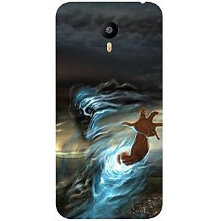 Casotec Ghost In Darkness Design Hard Back Case Cover for Meizu M2 Note