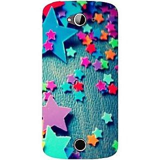 Casotec Colorful Stars Design Hard Back Case Cover for Acer Liquid Z530