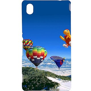 Casotec Funny Air Ballons Design Hard Back Case Cover for Sony Xperia M4 Aqua