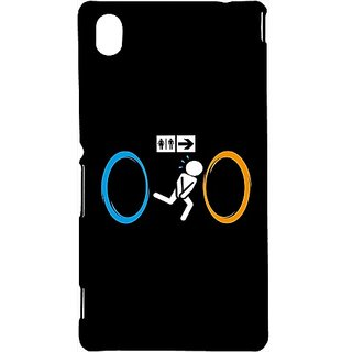 Casotec O O Confusion Design Hard Back Case Cover for Sony Xperia M4 Aqua