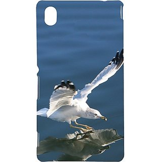 Casotec Bird Flying Design Hard Back Case Cover for Sony Xperia M4 Aqua