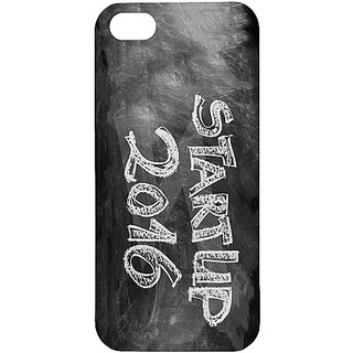 Casotec Start Up Design Hard Back Case Cover for Apple iPhone 5 / 5S