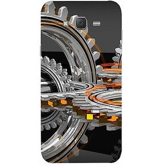 Casotec Engineering Wheel Design Hard Back Case Cover for Samsung Galaxy J2