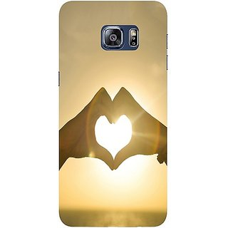 Casotec Love Design Hard Back Case Cover for Samsung Galaxy S6 edge Plus