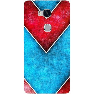 Casotec Line Obliquely Background Design Hard Back Case Cover for Huawei Honor 5X
