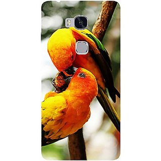 Casotec Love Bards Design Hard Back Case Cover for Huawei Honor 5X