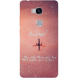 Casotec Travel Design Hard Back Case Cover for Huawei Honor 5X