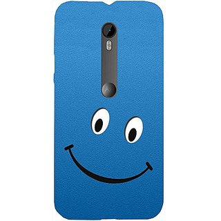 Casotec Happy Design Hard Back Case Cover for Motorola Moto G 3rd Generation