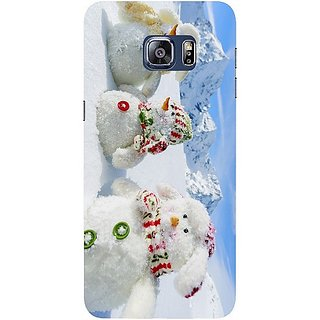 Casotec Winter Tree Design Hard Back Case Cover for Samsung Galaxy S6 edge Plus