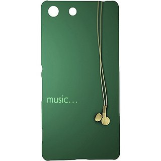 Casotec Music Design Hard Back Case Cover for Sony Xperia M5 Dual
