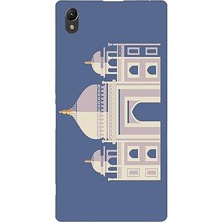 Casotec Taj Mahal Design Hard Back Case Cover for Sony Xperia Z1 L39H
