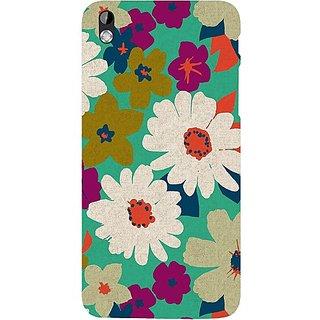 Casotec Floral Design Hard Back Case Cover for HTC Desire 816