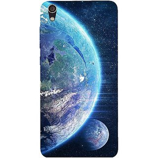 Casotec Earth Design Hard Back Case Cover for Lenovo S850