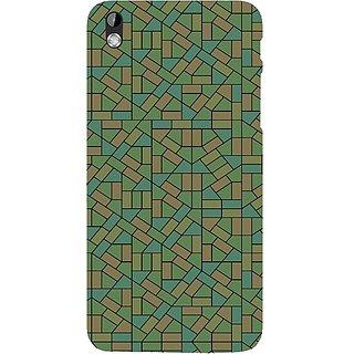 Casotec Structured Design Hard Back Case Cover for HTC Desire 816