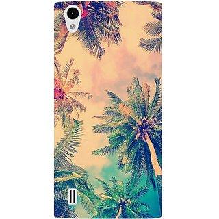 Casotec Coconut Tree Design Hard Back Case Cover for VIVO Y15