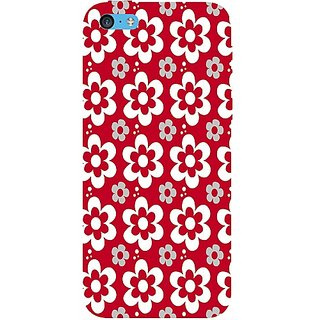 Casotec Floral Design Hard Back Case Cover for Apple iPhone 5C