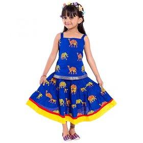 Decot Paradise Animal Print Baby Girls Lahenga Choli