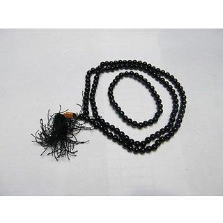 Black Agate Mala  Bracelet