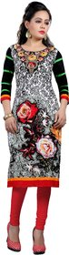 Nakoda Creation Women's Cotton Unstitched Multicolor Printed Semi Stitched Kurti Fabric (Fabric only for Top)
