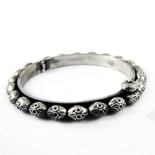 Miska Silver Designer Black Silver Kada BGPS16-1035-1