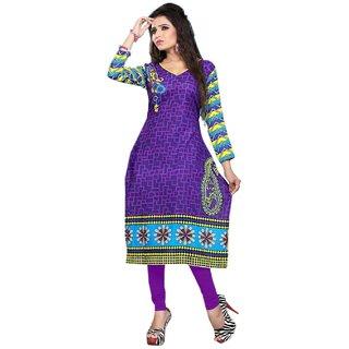 Todays Fashion Womens Cotton Self Print Kurti Unstitched
