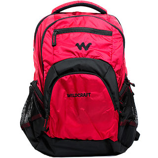 Wildcraft Polyester Laptop Backpack Bags (Red)