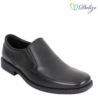 Delize Men's Black Formal Shoes Option 1