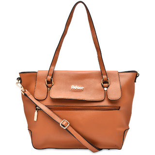 Adore London Tan Handbag (AL106-Tan)