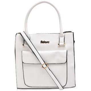 Adore London White Handbag  AL182 White
