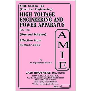 AMIE - Section (B)  High Voltage Engineering and Power Apparatus (EL- 413)