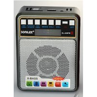 FM Radio with Bluetooth + USB + Memory card Support Hi-Fi Bass Stereo Speaker Sound