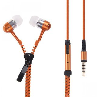 Kewin Letv Sound Earphone Zipper Type (Colour Orange/May Very Any One)