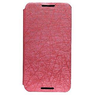 Jo Jo PU Rain Flip Cover Case With Stand For Motorola Nexus 6 Light Pink
