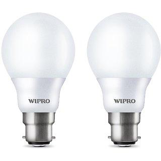 Wipro Garnet B22 7-Watt LED Bulb (Pack of 2 Cool Day Light) by Wipro