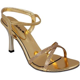Bellafoz Golden  heeled sandals