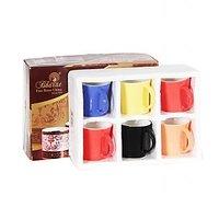Bharat Double-color Bone China Moody Medium 6 Pcs Coffee Mug Set