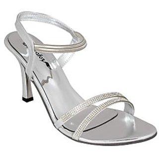 Bellafoz Silver  heeled sandals