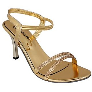 Bellafoz Golden  heeled sandals
