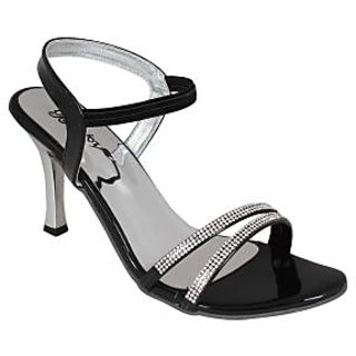 Bellafoz Black  heeled sandals