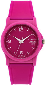 Omax Pink Unisex Kids Fiber Watch-FS267