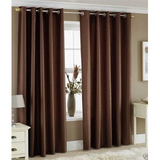 K Dcor Set of 2 Beautiful Polyester Windows Curtains (WTN2-002)