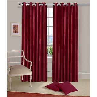 K Dcor Set of 2 Beautiful Polyester Windows Curtains (WTN2-003)