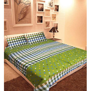 Homefab India 100% cotton Double Bed Sheet With 2 Pillow Covers (DBS055)