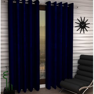 K Dcor Set of 2 Beautiful Polyester Windows Curtains (WTN2-006)
