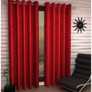 K Dcor Set of 2 Beautiful Polyester Windows Curtains (WTN2-010)