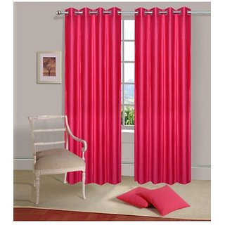 K Dcor Set of 2 Beautiful Polyester Windows Curtains (WTN2-012)