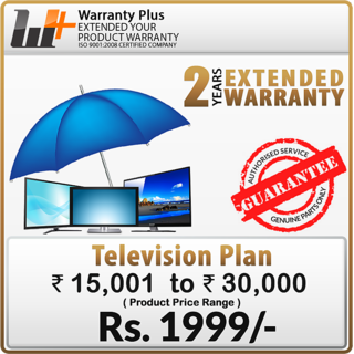 Warranty Plus an Extended Warranty on TV (Rs.15,001 to 30,000) For M.P. State